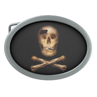 Fantasy - Pirate Flag - I'm a mighty pirate Oval Belt Buckle
