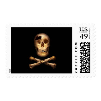 Fantasy - Pirate Flag - I'm a mighty pirate Stamp