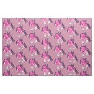 Fantasy Pixie Fairy Clydesdale Horse Fabric