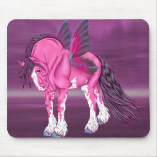 Fantasy Pixie Fairy Clydesdale Horse Mouse Pad
