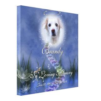 Fantasy Pond Add Your Pet Photo Memorial Canvas Print