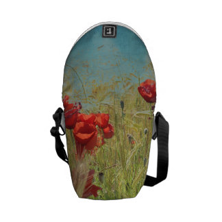 Fantasy poppies courier bag