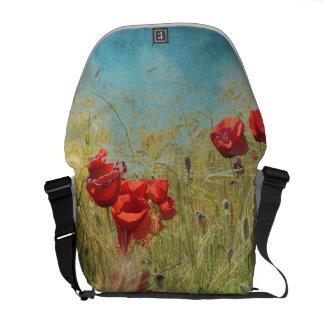 Fantasy poppies messenger bag