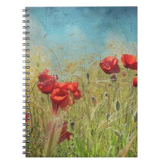 Fantasy poppies notebook