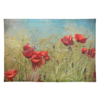 Fantasy poppies placemat