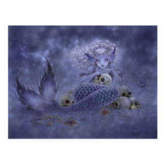 Fantasy Postcard - Dark Mermaid