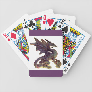 Fantasy Purple & Gold Dragon Playing Cards