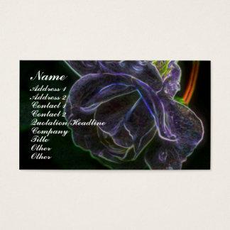Fantasy Purple Rose Flower Business Card