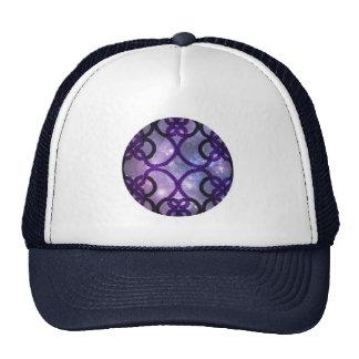Fantasy Purple Tatting Lace Night Sky Trucker Hat