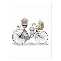 Fantasy push bike postcard
