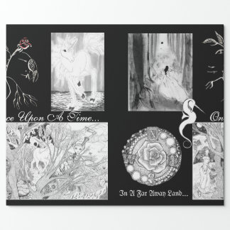 Fantasy Realm and Fairytale Calligraphy Art Wrapping Paper