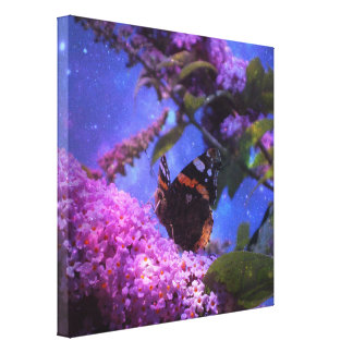 Fantasy Red Admiral Butterfly Art Canvas Print
