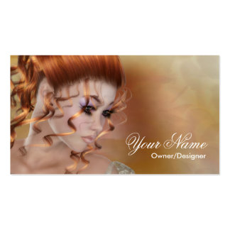 Fantasy Redhead Beauty Style Business Card 1