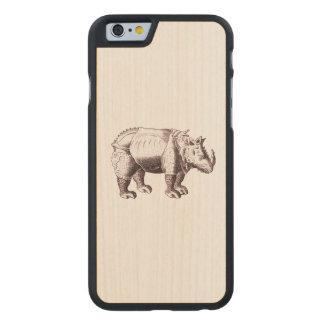 Fantasy Rhino After Albrecht Durer Carved® Maple iPhone 6 Case