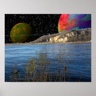 Fantasy River World Poster