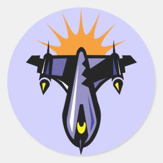 Fantasy Rocket Ship Flight Sticker