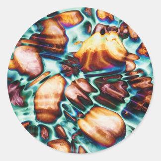 Fantasy Rocks by Artist McKenzie Classic Round Sticker