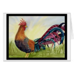 Fantasy Rooster Greeting Card