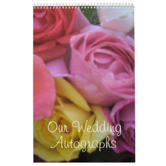 Fantasy Rose Wedding Calendar