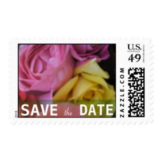 Fantasy Rose Wedding Postage Stamp