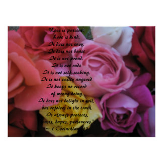 Fantasy Rose Wedding Poster