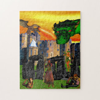 Fantasy scene and Stonehenge Jigsaw Puzzle