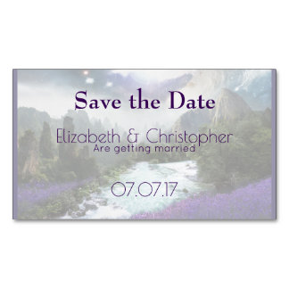 Fantasy Scenic Nature Landscape Save The Date Business Card Magnet