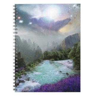 Fantasy Scenic Nature Landscape Spiral Notebook