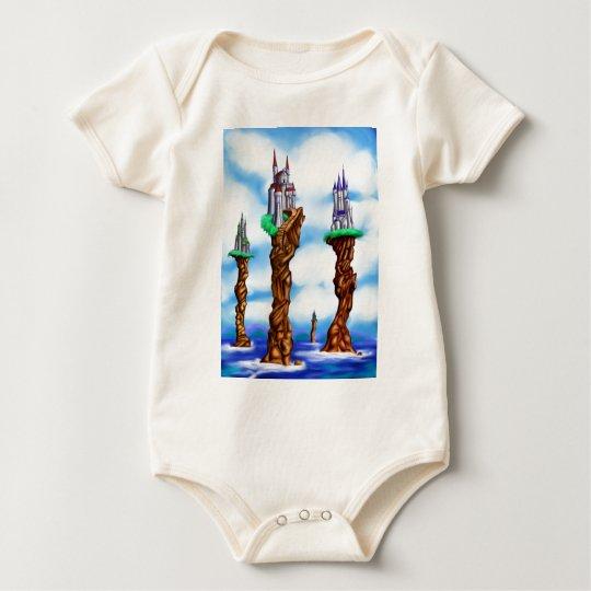 Fantasy Sea Castles Baby Bodysuit