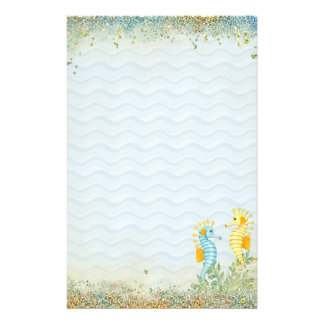 Fantasy Sea Horse and Bling Stationery