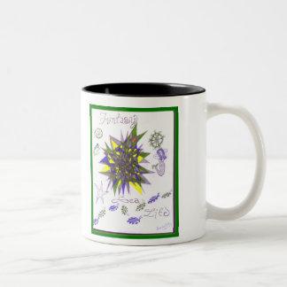 Fantasy Sea Life Two-Tone Coffee Mug