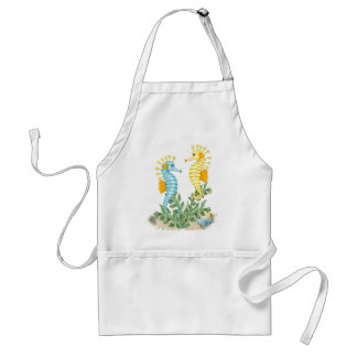 Fantasy Seahorse and Bling Adult Apron
