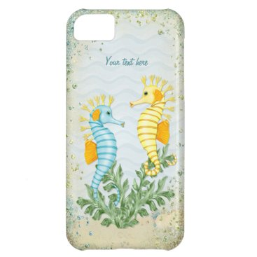 Beach Themed Fantasy Seahorse and Bling Cover For iPhone 5C