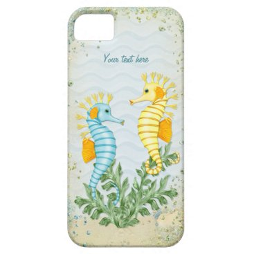 Beach Themed Fantasy Seahorse and Bling iPhone SE/5/5s Case