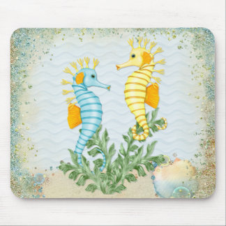 Fantasy Seahorse and Bling Mouse Pad