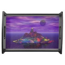 Fantasy Seascape Serving Tray