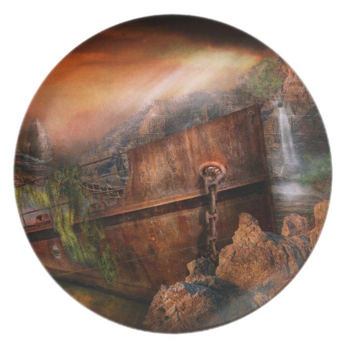 Fantasy - Ship Wrecked Dinner Plate
