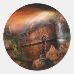 Fantasy - Ship Wrecked Round Sticker