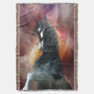 Fantasy Shire Horse Throw Blanket