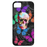 Fantasy skull and colored butterflies iPhone 5 cover