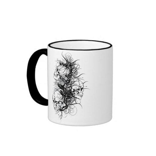 Fantasy Skulls Ringer Coffee Mug