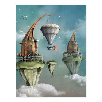 Fantasy sky abode postcard