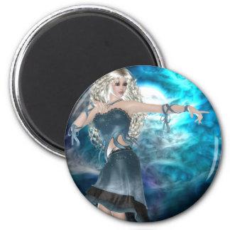 Fantasy Sky Siren 2 Inch Round Magnet