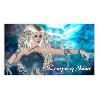 Fantasy Sky Siren Business Card Template