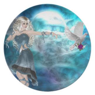 Fantasy Sky Siren Dinner Plates