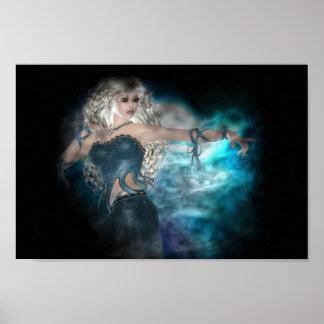Fantasy Sky Siren Vignette Print