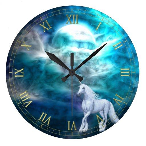 Fantasy Sky  Unicorn Wall Clock