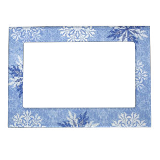 Fantasy Snowflakes 1 Magnetic Picture Frame