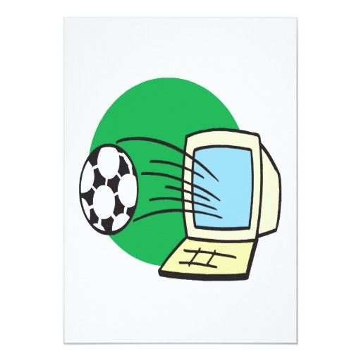 Fantasy Soccer 5x7 Paper Invitation Card