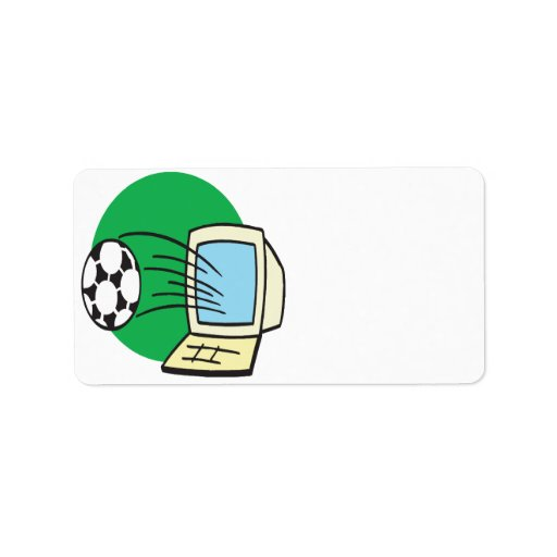 Fantasy Soccer Personalized Address Label